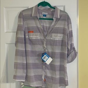 Columbia Sun Drifter Purple Striped Clemson PFG